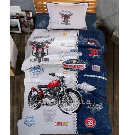 Комплект постельного 160*220 ренфорс Clasy Bike Vintage