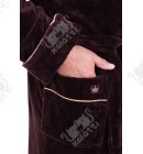 "Халат мужской махровый коричневый ""King"" Nusa бамбук"