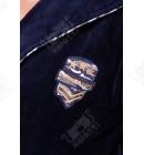 """Халат мужской махровый капюшон """"Military"""" синий Nusa бамбук"""