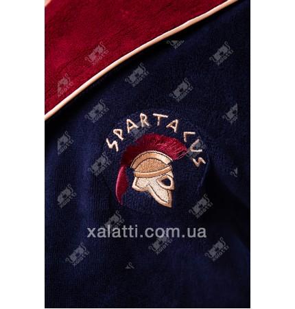 """Халат мужской махровый капюшон """"Sparta"""" бордо Nusa бамбук"""