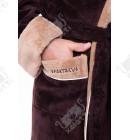"Халат мужской махровый капюшон ""Sparta"" шоколад Nusa бамбук"