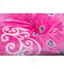 "Короткий женский халат капюшон ""Купон"" розовый"