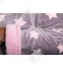 """Короткий женский халат капюшон """"Звездочки"""" серый"""