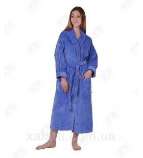 Халат женский махровый голубой May Yener