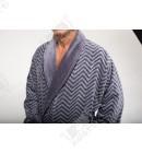 Халат мужской махровый Karna серый