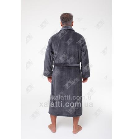Халат мужской махровый хлопок Alberto Maison D'or серый