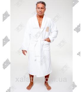 Халат мужской махровый хлопок Alberto Maison D'or белый