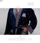 Халат мужской махровый Massimo Monelli синий