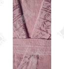 Женский махровый халат бамбук Nurpak розовый