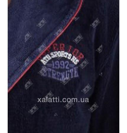 """Халат мужской махровый капюшон """"1992"""" Nusa бамбук"""
