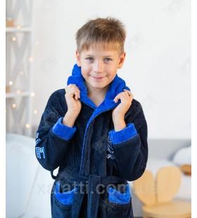 Халат детский махровый Sport голубой Aldona