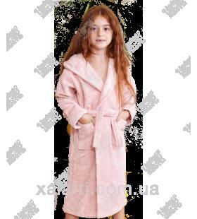 Детский махровый халат персиковый BL бамбук