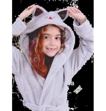 """Подростковый махровый халат """"Кошечка"""" BL бамбук"""