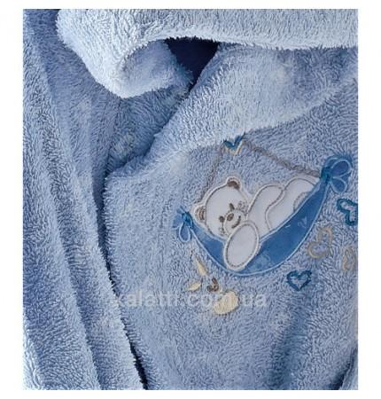 Детский махровый набор 5 предметов Babyclub голубой