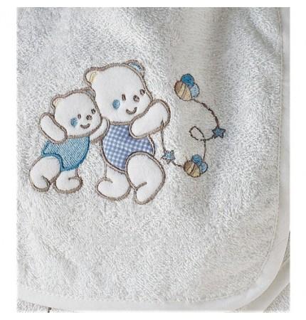 Детский махровый набор 5 предметов Babyclub белый
