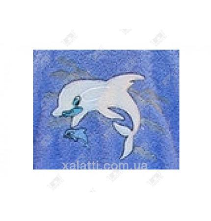 """Халат детский махровый """"Дельфин"""" голубой Philippus"""