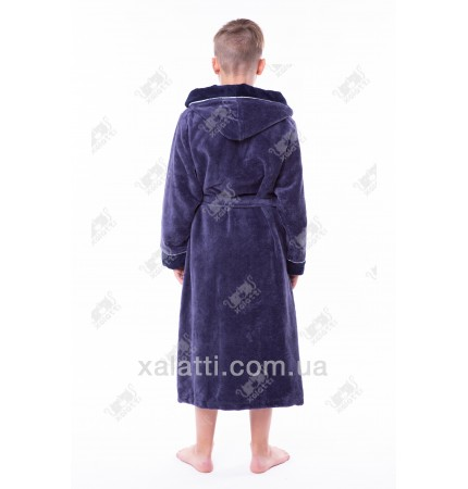 Детский махровый халат серый Nusa бамбук