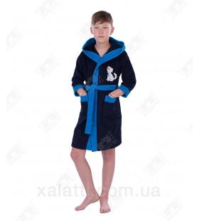 """Халат детский махровый """"Щенок"""" синий Philippus"""