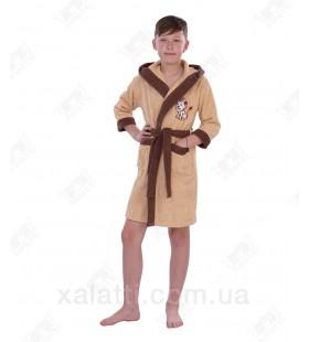 "Халат детский махровый ""Львенок"" беж Philippus"