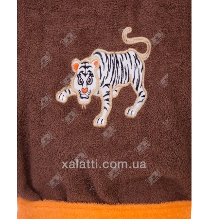 Халат детский махровый Тигр коричневый Philippus