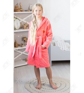 Халат детский махровый Mini-Lady Piramyt коралл