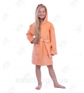 Халат детский махровый Mini-Lady Piramyt  персиковый