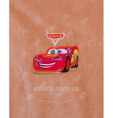 Халат подростковый махровый Cars кофе Piramyt
