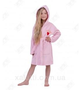 Халат детский махровый  Mini-Lady Piramyt  розовый
