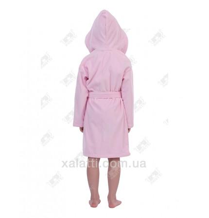Халат детский махровый лет Mini-Lady Piramyt  розовый