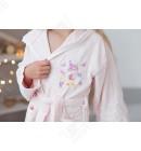Детский махровый халат для девочки Pupilla пудра