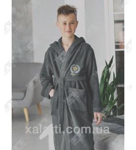 Халат подростковый для мальчика Ramel серый
