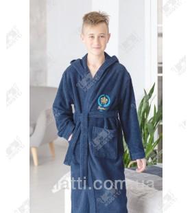 Халат подростковый для мальчика Ramel синий