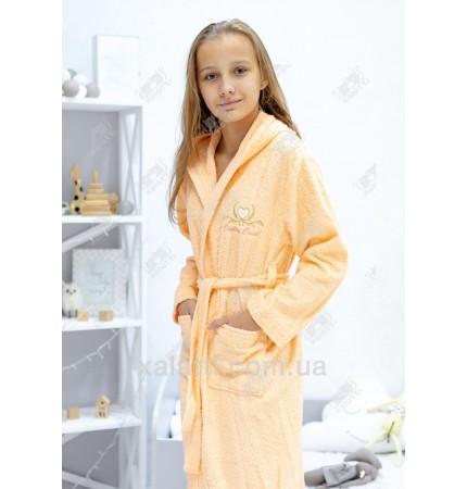 Халат подростковый для девочки Ramel оранжевый