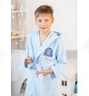 Халат детский махровый голубой Ramel