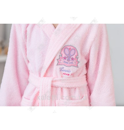 Халат детский махровый розовый Ramel