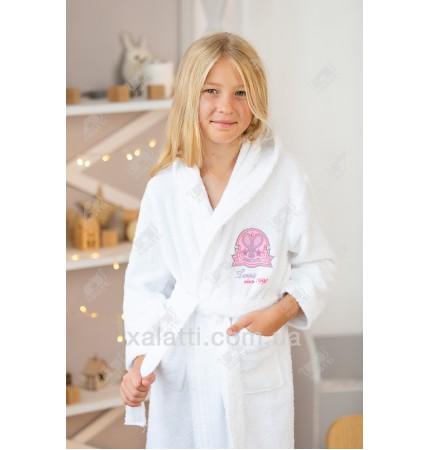 Халат детский махровый белый Ramel