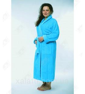 Женский махровый халат большой размер 58-60 бирюза Massimo Monelli