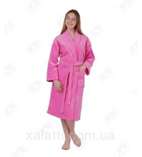 Халат женский махровый 54-56 Anhelika розовый