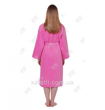 Халат женский махровый Anhelika розовый
