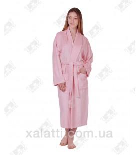 Халат женский махровый бамбуковый Belle Textile розовый