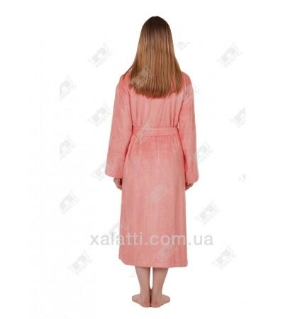 Халат женский махровый бамбуковый Belle Textile персиковый