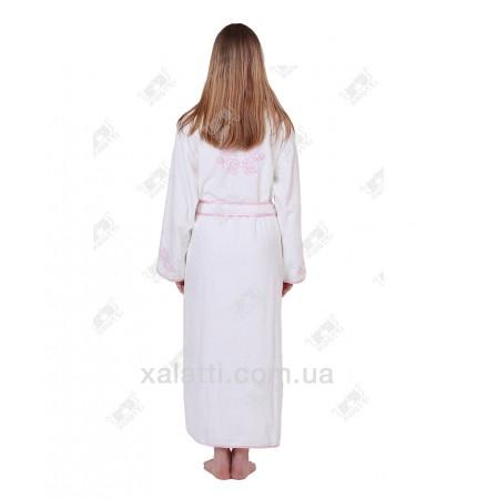 Халат женский махровый хлопок Nusa белый