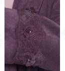 Халат женский махровый микрокотон Yonca Softcotton баклажан