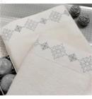 Полотенце махровое 50*100 бамбук Drahoma серебро