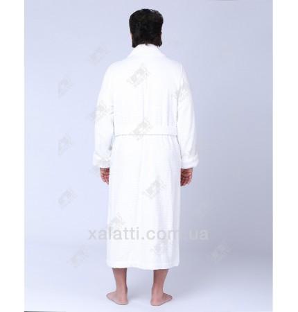 Халат мужской махровый хлопок Derin Ekehome белый