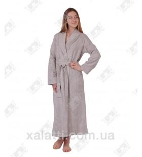 Халат женский махровый бамбуковый Doga Eke flax