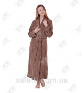 Халат женский махровый бамбуковый Doga Eke кофе