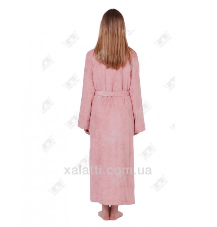 Халат женский махровый бамбуковый Doga Eke розовый