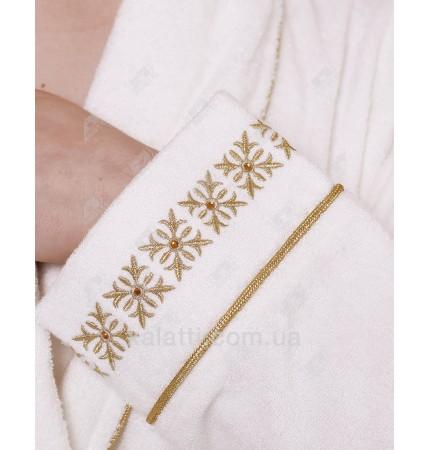 Халат женский махровый бамбуковый Drahoma Eke Gold