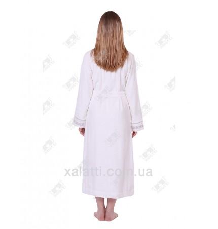 Халат женский махровый бамбуковый  Drahoma Eke Silver